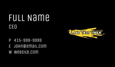 Spray Paint Wordmark Business Card