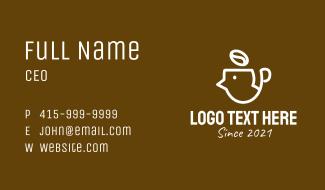 Coffee Bean Head Business Card