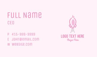 Pink Rocket Pig Business Card