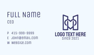 Blue Structure Buildings Business Card