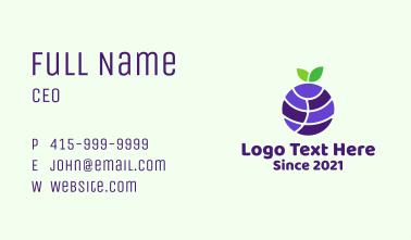 Blueberry Fruit Globe  Business Card