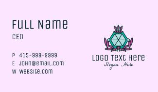Jewelry Diamond Accessories Business Card