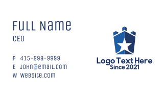 Blue Star Fortress  Business Card