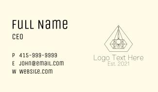 Diamond Interior Decorator  Business Card