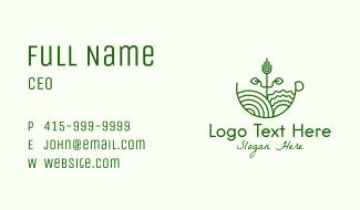 Monoline Plant Gardening Business Card