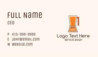 Orange Smoothie Blender Business Card