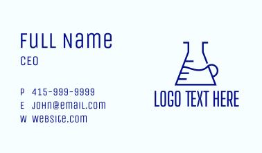 Minimalist Laboratory Flask Business Card