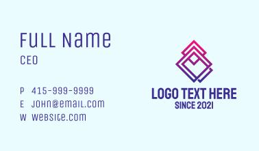 Geometric Diamond Pattern  Business Card