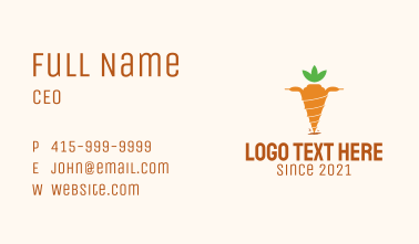 Drill Carrot Farm  Business Card