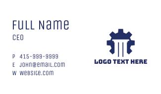 Blue Cog Pillar Business Card