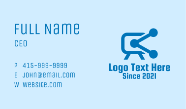 Blue Video Connection Business Card