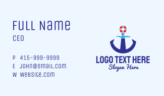 Maritime Anchor Business Card