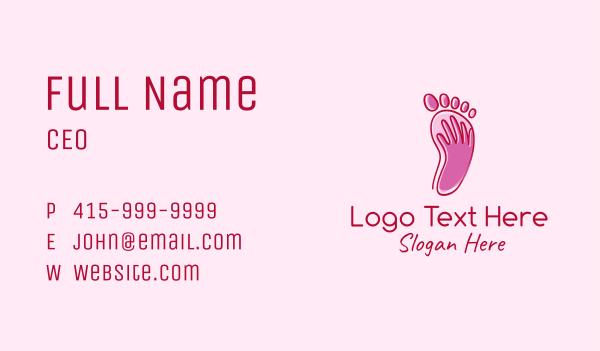 foot spa - Foot Massage Spa  Business card horizontal design