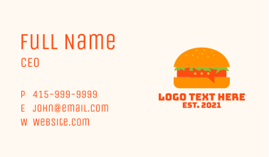 Cheeseburger Chat  Business Card