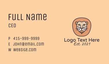 Lion Safari Mascot  Business Card