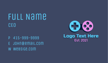 Game Pad Controller Business Card