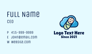 Cloud Baby Swaddle Business Card