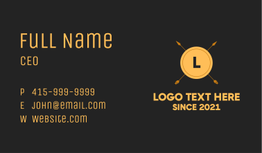 Ancient Tribal Letter  Business Card