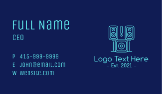 Sound System Music Studio  Business Card