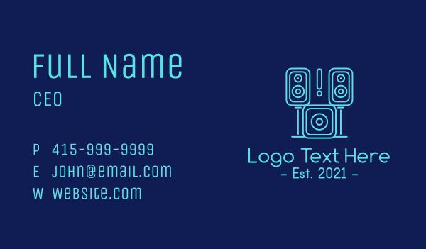 sound system - Sound System Music Studio  Business card horizontal design