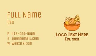 Bread Basket Bakery Business Card