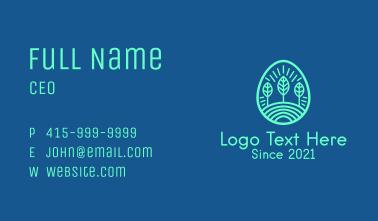 Forest Line Art Business Card