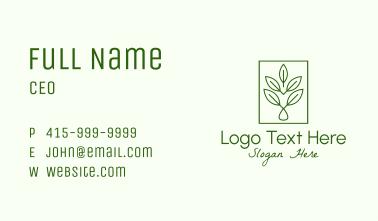 Leaf Droplet Frame Business Card
