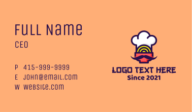 Oriental Noodle Chef Business Card