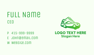 Wheeled Sneakers Shoes Business Card