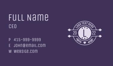 Elegant Seal Letter Business Card
