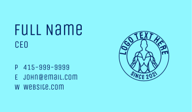 Blue Physiotherapy Outline  Business Card