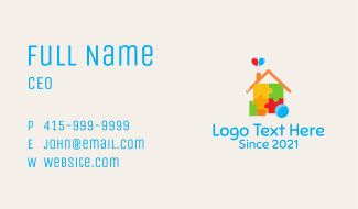 Early Learning Toy  Business Card