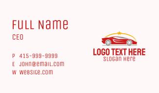 Race Car Star Business Card