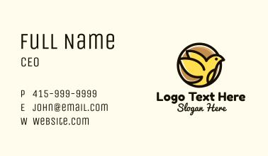 Canary Bird Badge Business Card