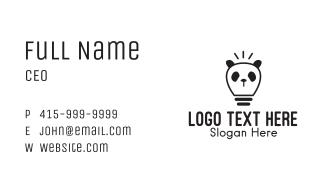 Black Panda Light Bulb Business Card