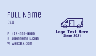 Travel Trailer Van Business Card