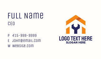 Wrench House Carpenter Business Card
