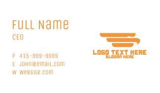 Abstract Golden Falcon Business Card