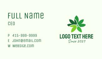 Digital Cannabis Leaf Business Card