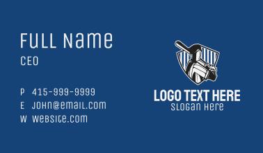 Baseball Player Badge Business Card