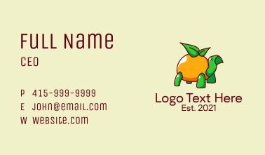 Tropical Orange Turtle  Business Card