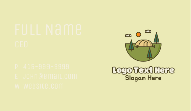 Trailer Camping Park Outdoors Business Card