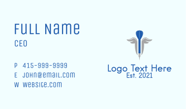 Darts Sports Wings Business Card