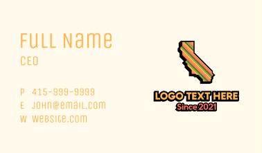California Tropical Stripe Business Card