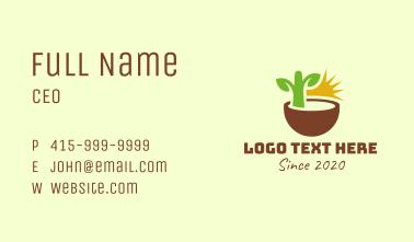 Natural Plant Seedling Business Card
