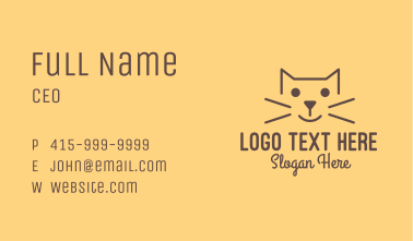 Simple Cat Business Card