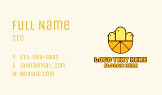 Chicks Orange Slice Business Card