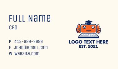 Online Robot Tutor Business Card