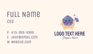 Cute Monster Mascot Business Card