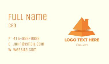 Orange Pyramid House Business Card